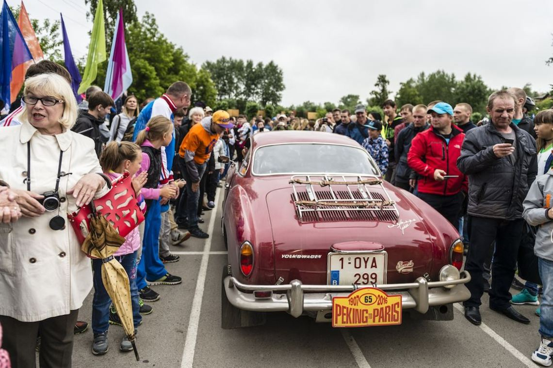 Car 65. Patrick Sommer(D) / Christine Sommer(B)1966 - Volkswagen Karmann Ghia1995, Peking to Paris 2016., Peking to Paris 2016. Day 18. Ekaterinburg - Perm