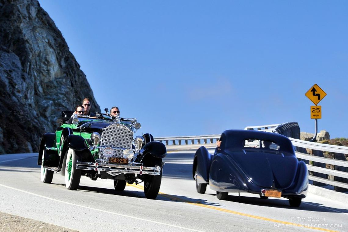1929 Packard 645 Deluxe Eight Rollston Roadster and 1946 Delahaye 135 MS Pourtout Coupe Aerodynamique