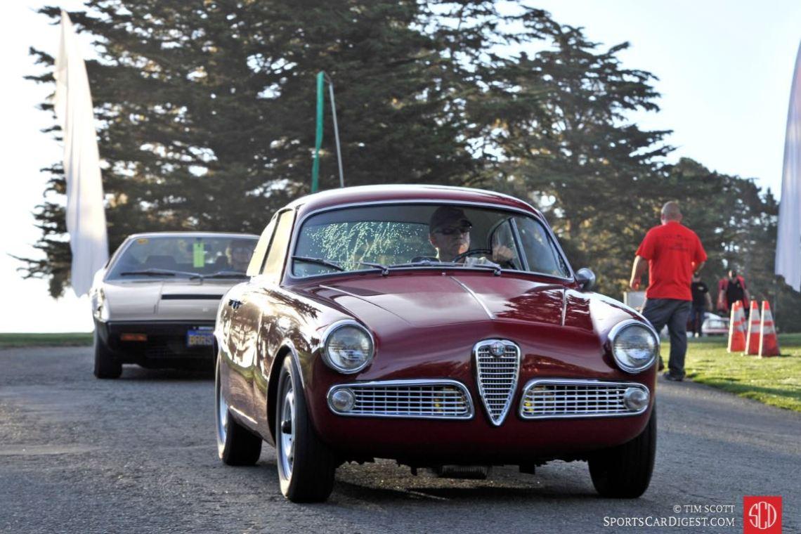 Early morning sun on the Alfa Romeo