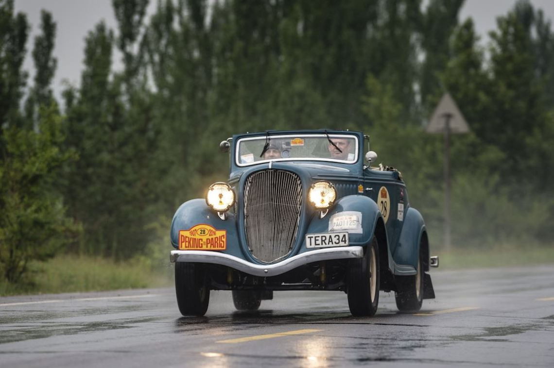 Car 28. Colin Smith(NZ) / Hernan Zanghellini(AUS)1934 - Hudson Terraplane Convertible3475, Peking to Paris 2016., Peking to Paris 2016. Day 02. Datong - Erenhot