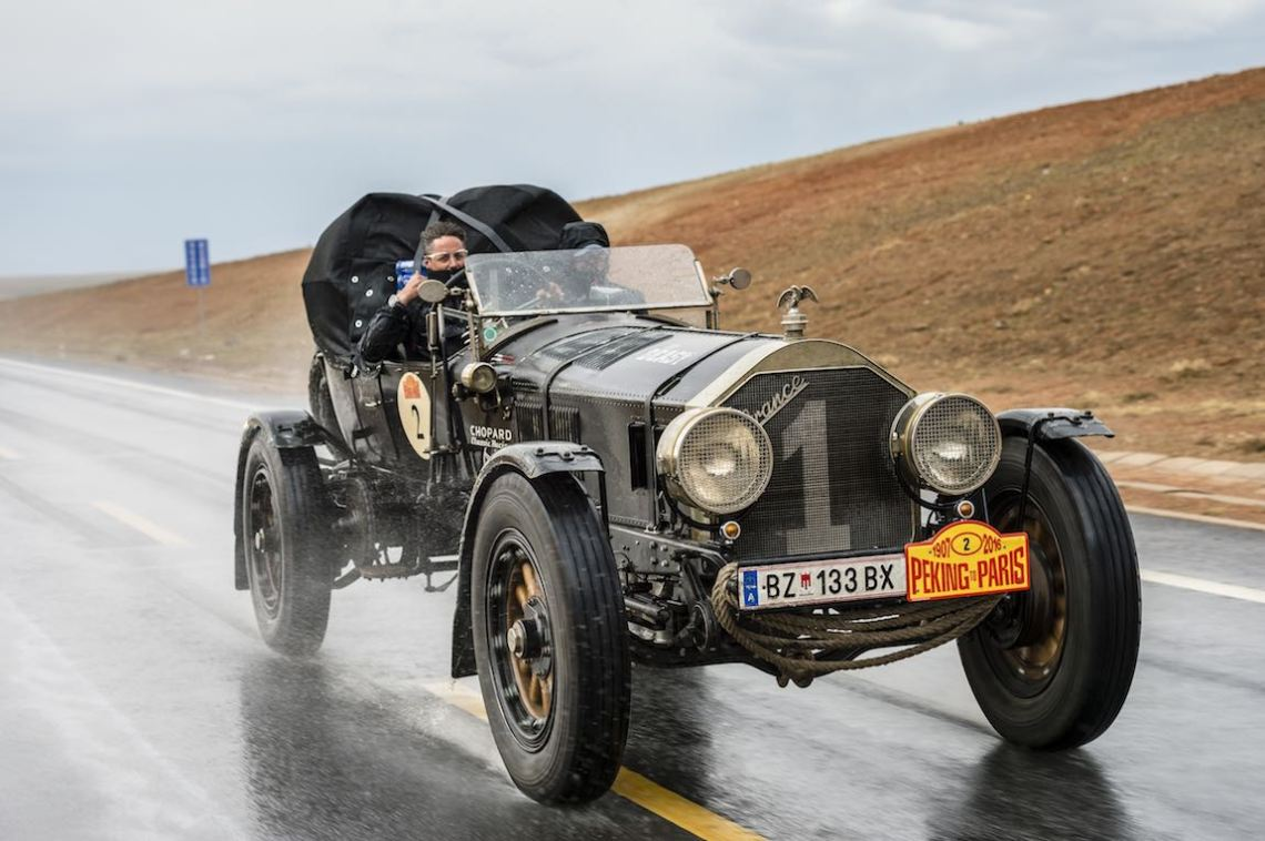 Car 02. Ingo Strolz Werner Gassner 1917 - La France Tourer Speedster14500, Peking to Paris 2016., Peking to Paris 2016. Day 02. Datong - Erenhot