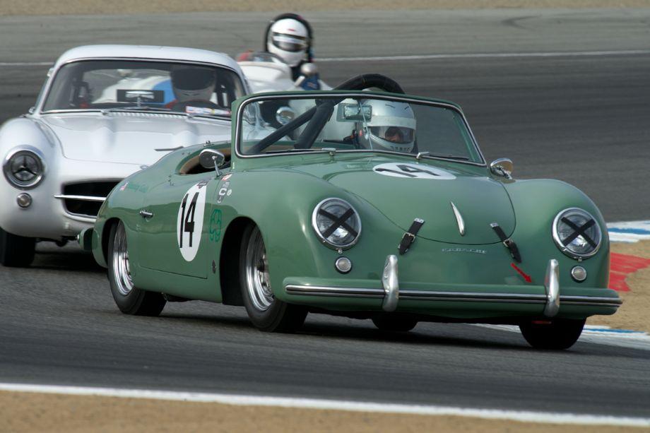 Stanley Gold's 1952 Porsche American Roadster 356 Heuer K/9 in turn two.