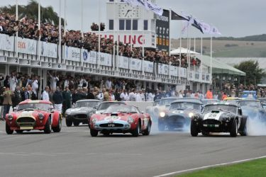 Start of the RAC Tourist Trophy Celebration Race at 2013 Goodwood Revival