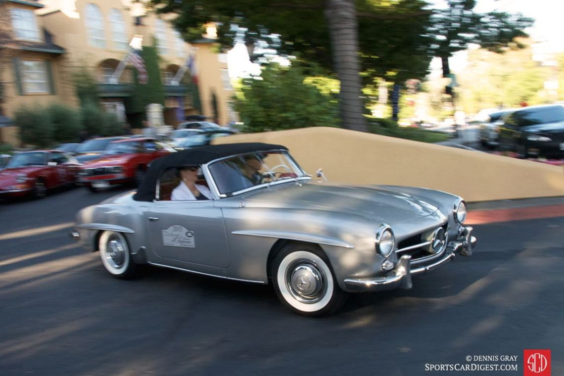 Mercedes-Benz 190SL on the Danville Tour