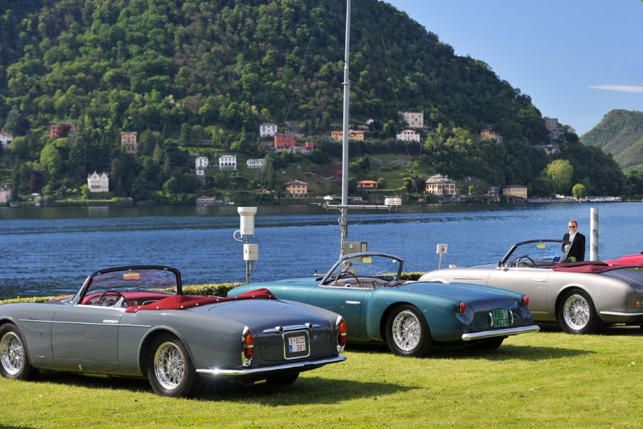 Maseratis in front of Lake Como at Concorso d'Eleganza Villa d'Este