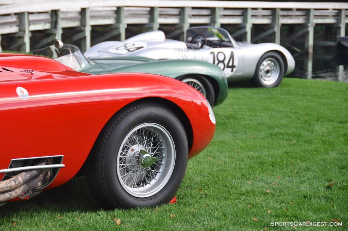 Maserati 450S, Aston Martin DBR1 and Porsche RS-60