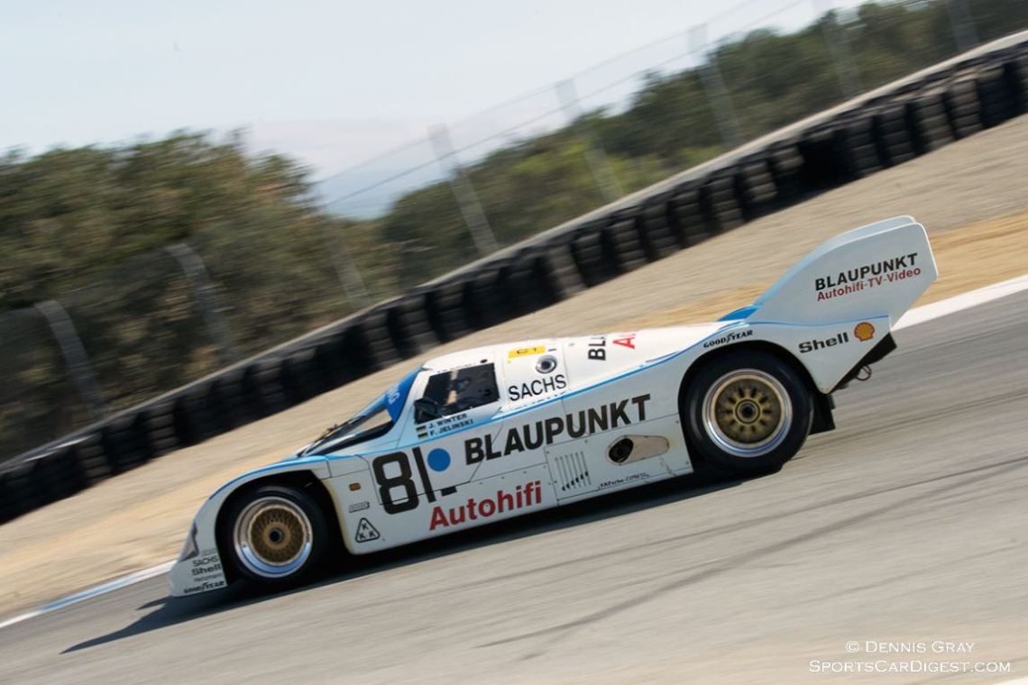 George Nakas in a 1988 Porsche 962C.