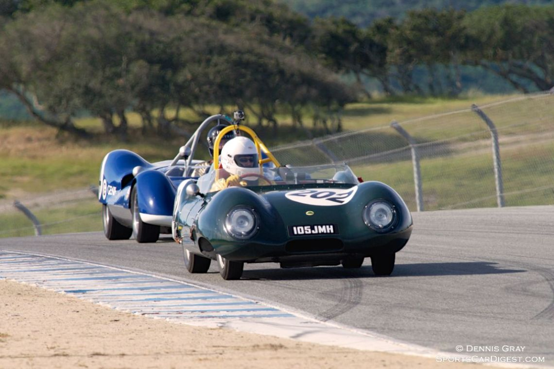 Carla Marvin in her Lotus Eleven.