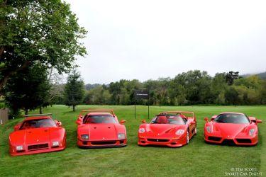 Ferrari 288 GTO Evoluzione, Ferrari F40, Ferrari F50 and Ferrari Enzo