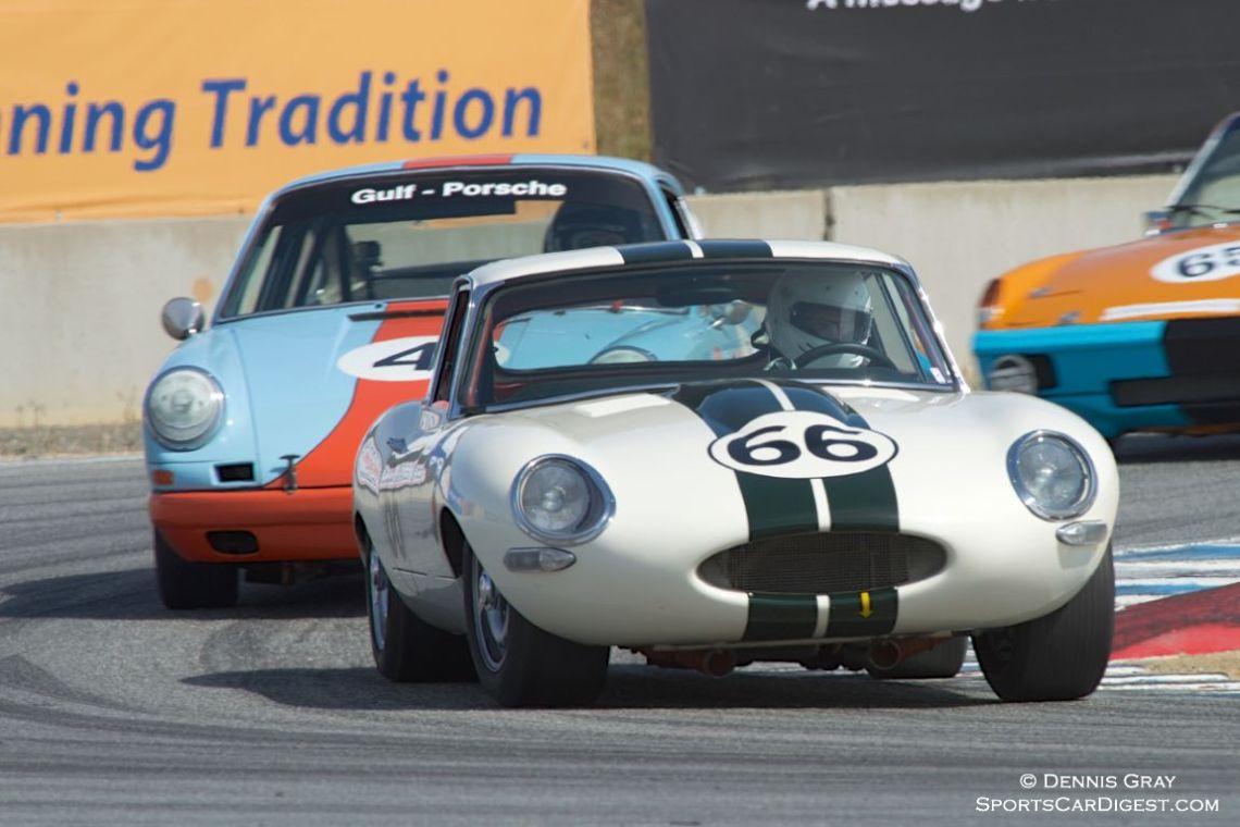 Michael Doyle's XKE Jaguar in turn eleven.