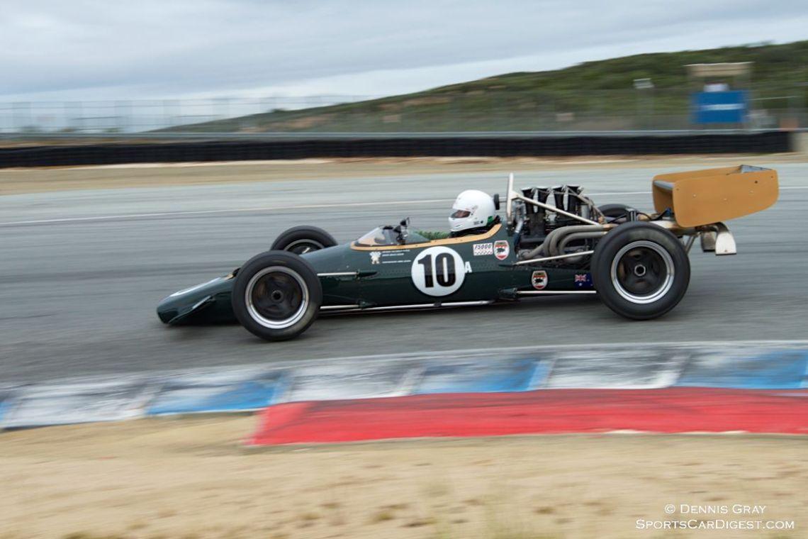 Bruce Leeson's McLaren M10B Sunday morning.