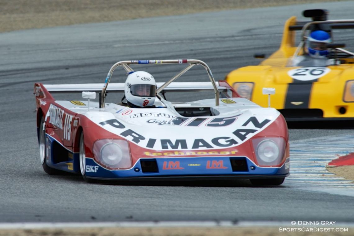 Cal Meeker's Lola T294 in turn two Sunday.