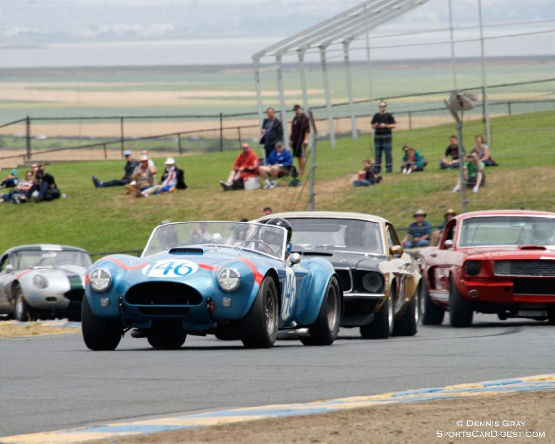 Chris MacAllister's 1964 Shelby Cobra leads the pack
