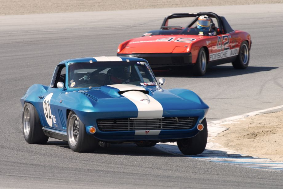 Phil Scheinberg's 1966 Chevrolet Corvette in two.