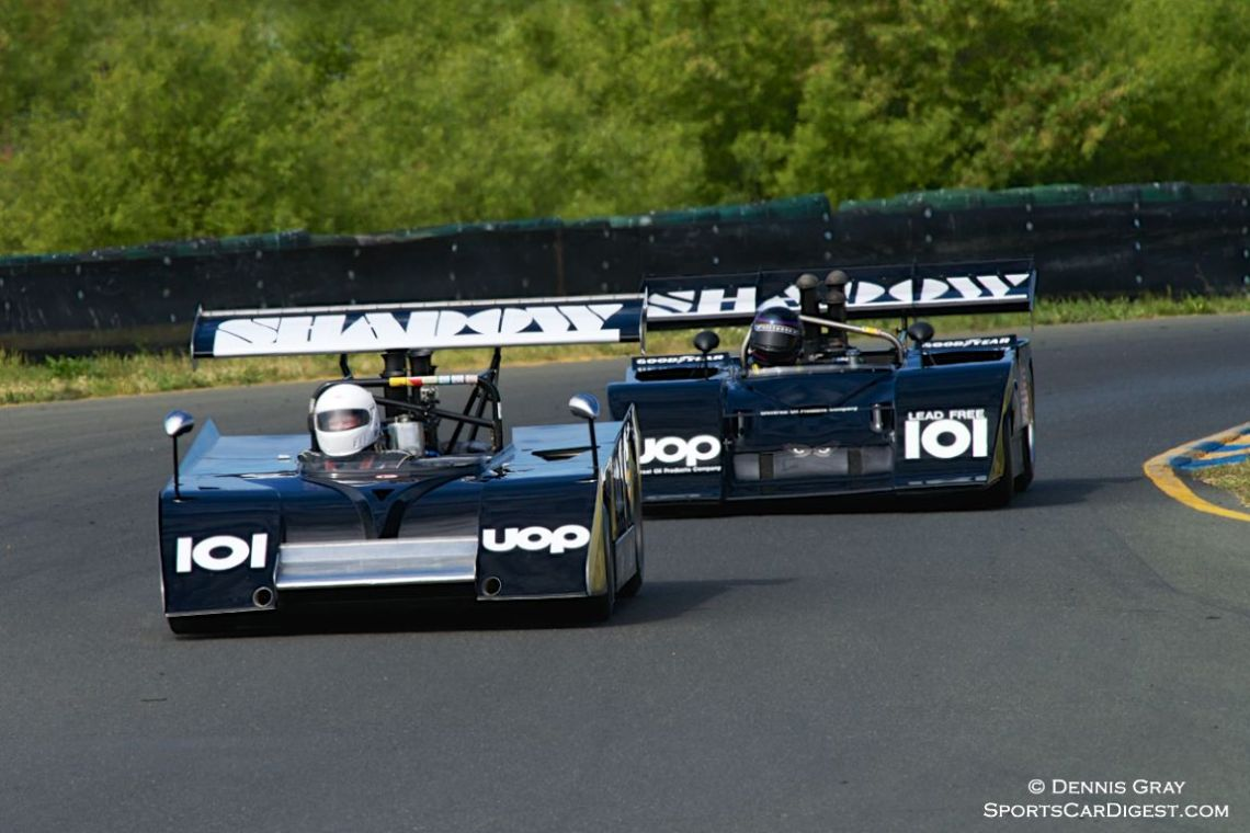 Dennis Losher's Mk.II Shadow leads Fred Cziska's Mk.III Shadow.
