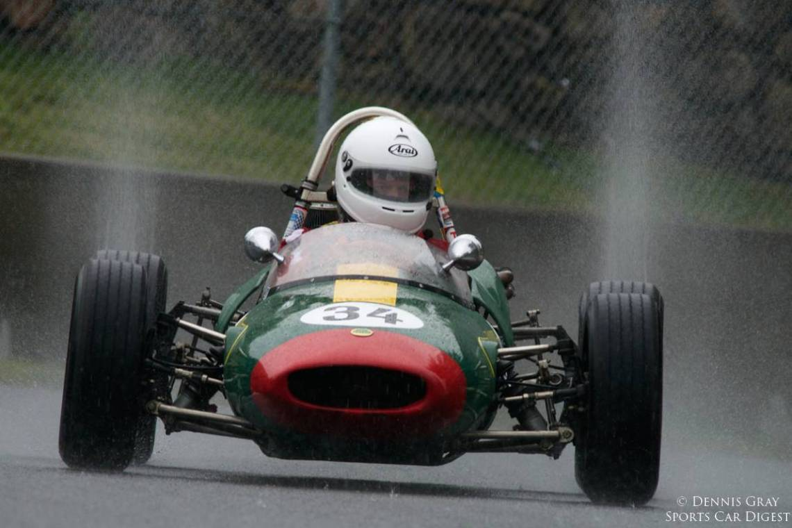Sunday morning the rain did fall. William Bartlett's 1968 Lotus 51.