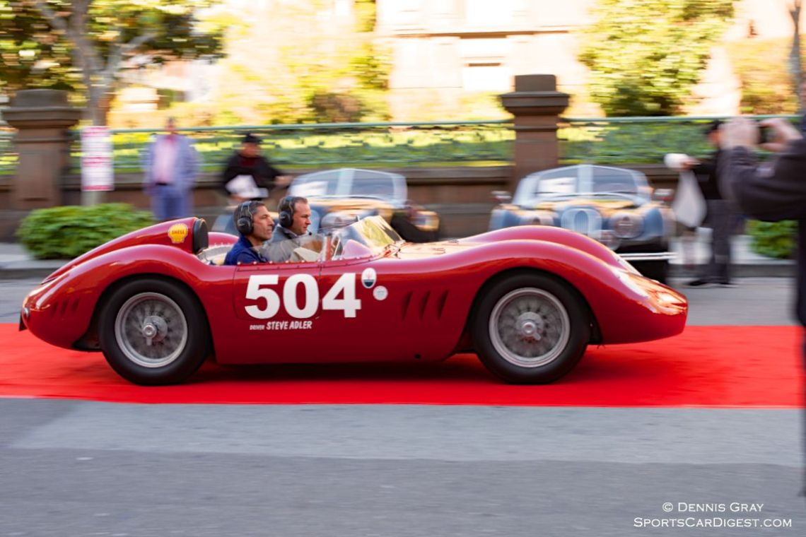 Steve Adler and Jakob Greisen in the 1957 Maserati 200SI.