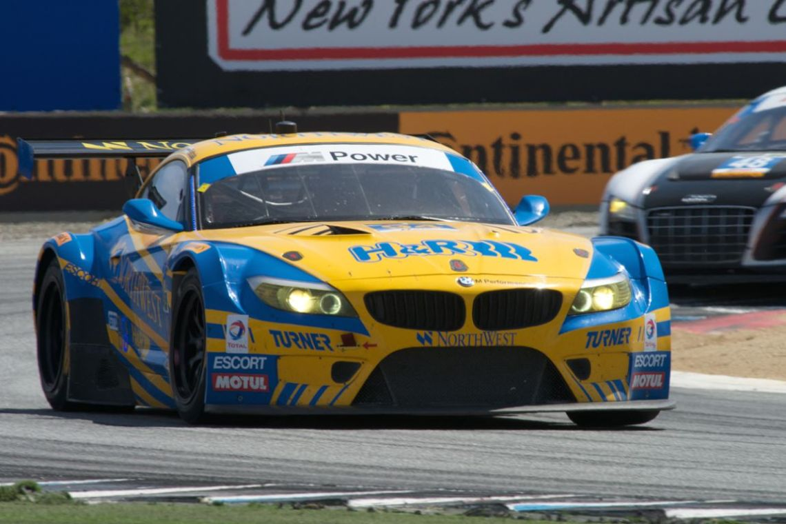 Turner Motorsports BMW Z4 driven by Dane Cameron and Markus Palttaia in turn eleven.