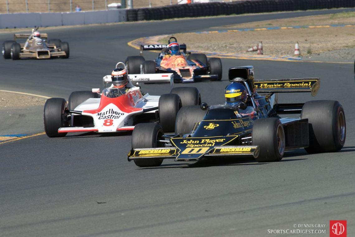 Andrew Beaumont - Lotus 76 and Sean Allen - 1980 McLaren M30