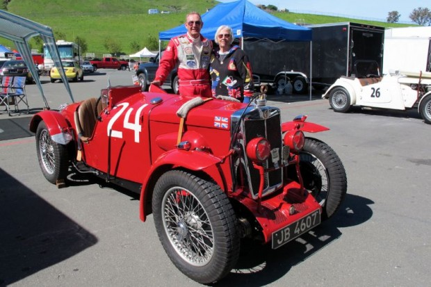 Pete and Fran Thelander with their 1934 MG NE Magnette.