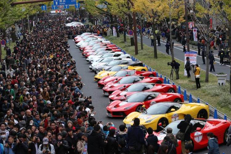Ferrari Supercar display in Osaka, Japan
