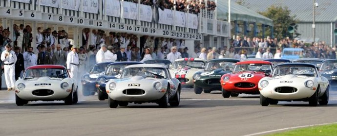 Start of the Fordwater Trophy Race at Goodwood Revival 2011