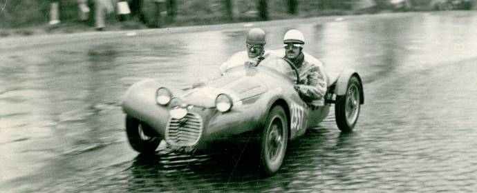 De Angelis Brothers at the 1954 Mille Miglia