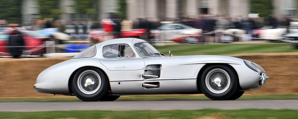 Jochen Mass in the Mercedes-Benz 300SLR Uhlenhaut Coupe