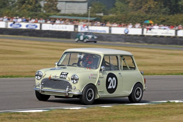 Overall winner Oliver Gavin in the Morris Mini Cooper S