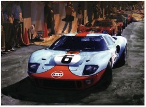 Gulf Blue Ford GT40 by Wallace Wyss