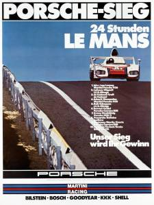 Historical poster Le Mans 1976