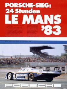 Historical poster Le Mans 1983