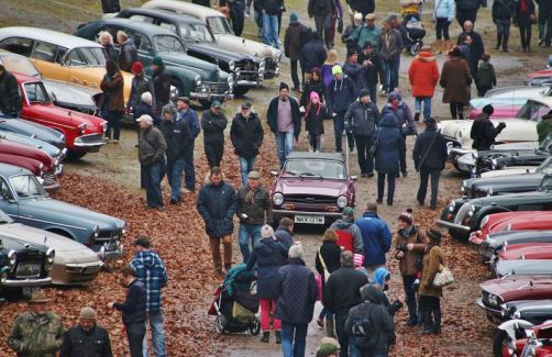 Brooklands Museum New Year's Day Classic Gathering 2015