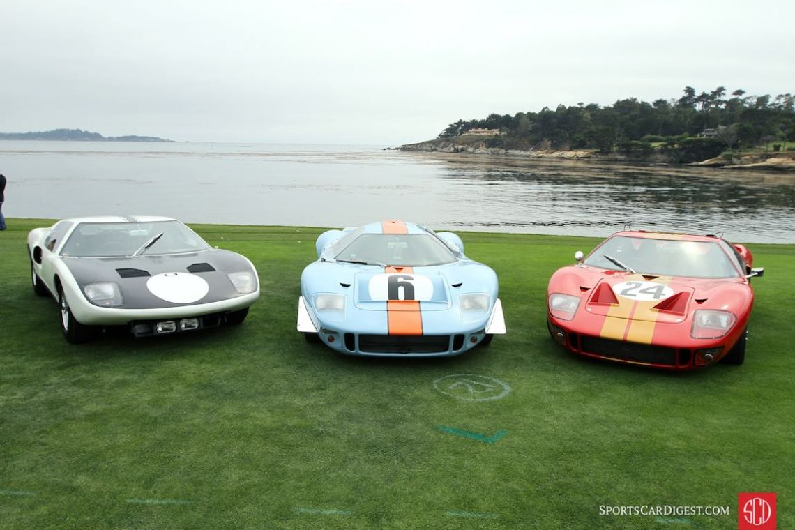 Trio of Ford GT40s - Pebble Beach Concours 2016