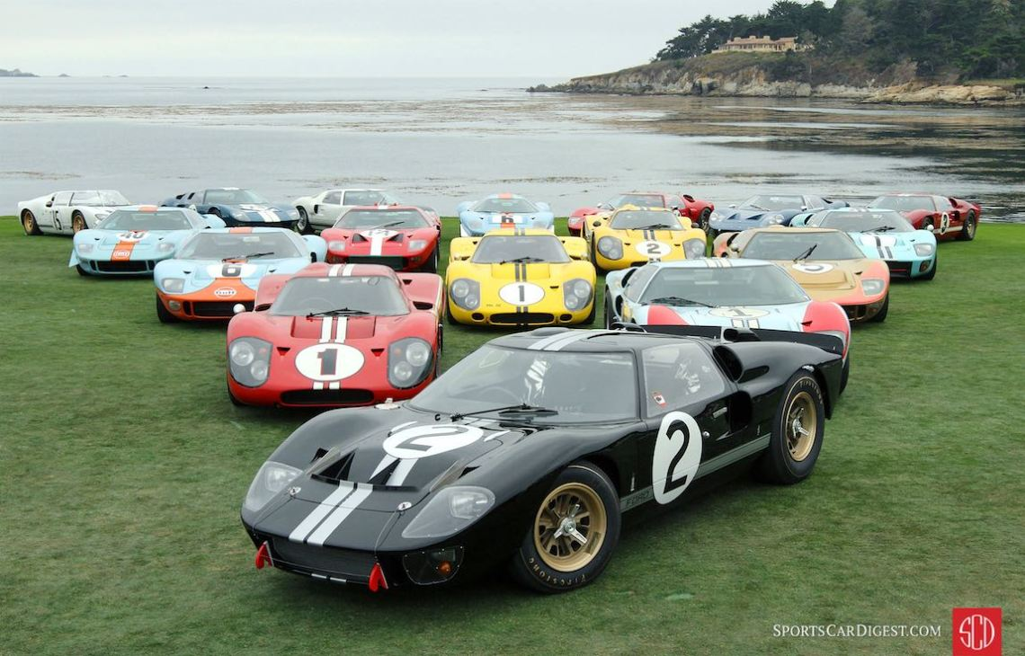 Ford GT40 Victory at Le Mans 50th Anniversary Class - Pebble Beach Concours 2016
