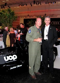 Gordon McCall with fast company - Air Force pilot and Shadow Can-Am