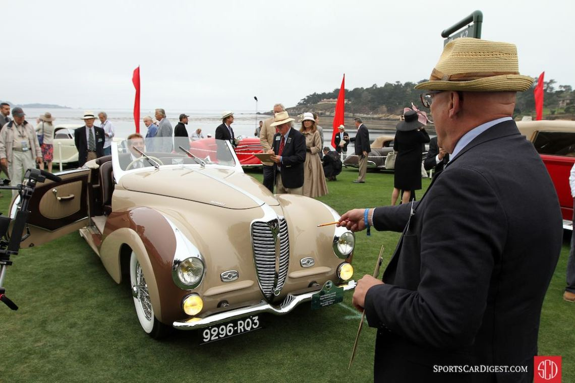 Judging the 1948 Delahaye 135 M Faget-Varnet Cabriolet