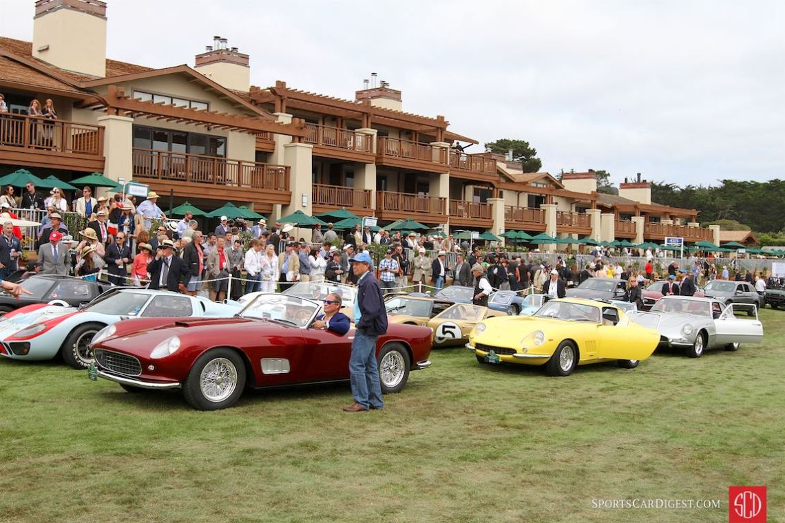 Award time at the 2016 Pebble Beach Concours d'Elegance