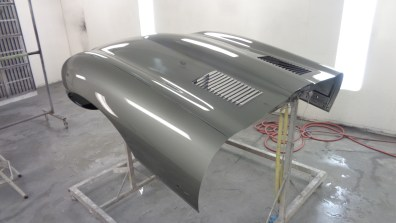 The E-Type's large hood