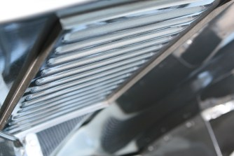 The early welded-in louvers