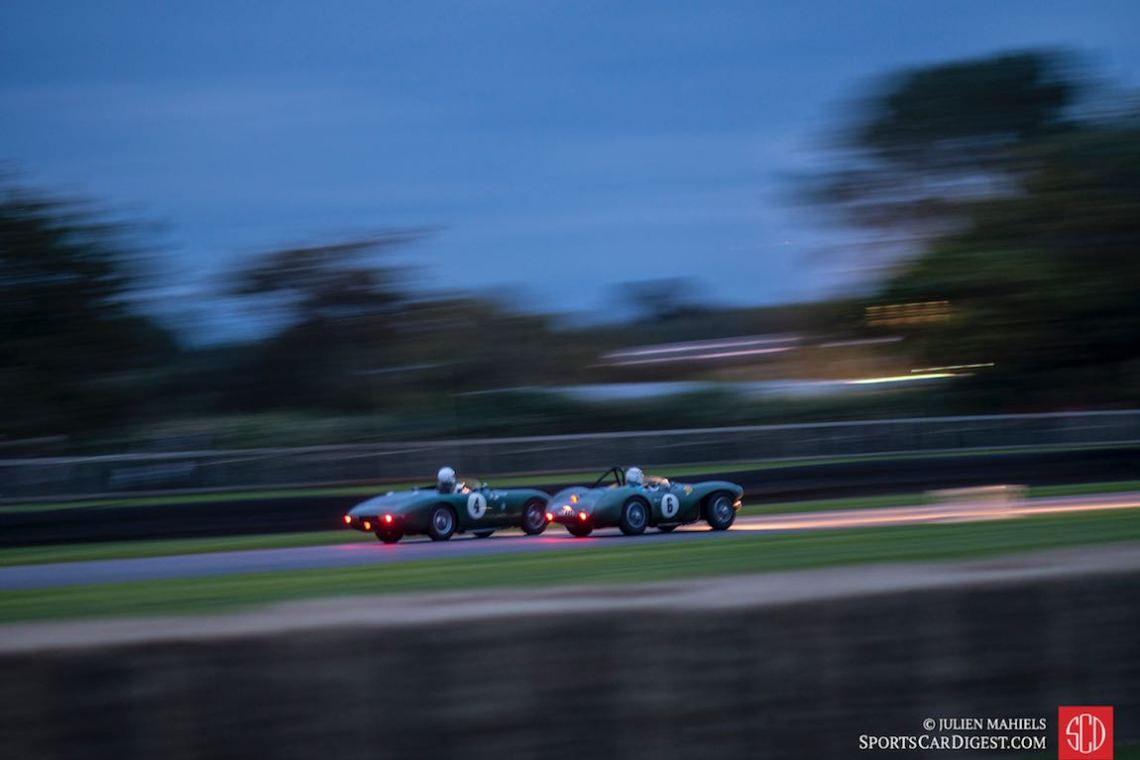 #4 1952 Aston Martin DB3 and #6 1954 Aston Martin DB3S
