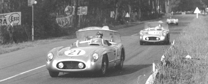 Kling and Levegh at Le Mans 24 Hours, 1955