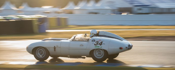Jaguar E2A at Le Mans Classic 2012