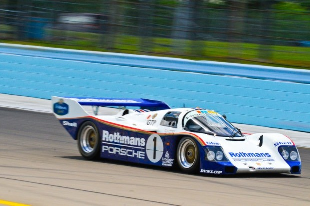 Johan Woerheide wheels 1986 Porsche 962 at Legends of Motorsports Watkins Glen
