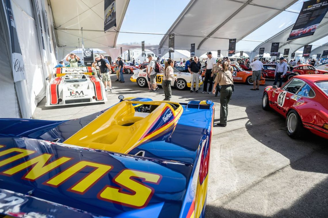1973 Porsche 917/30 chassis 003 watches over the Heritage Display