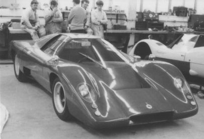McLaren M6-GT 50/17 just finished at the Trojan factory before the London Motor Show (photo: Roger Dunbar Collection)