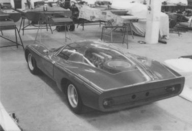 McLaren M6 GT just finished at the Trojan factory before the London Motor Show (photo: Roger Dunbar Collection)