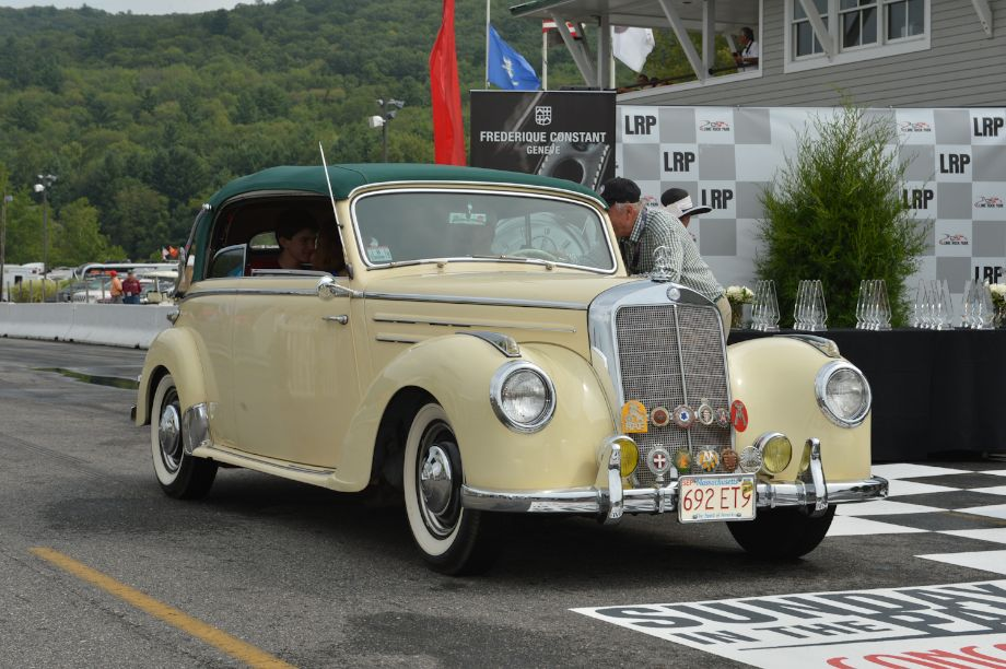 """Fancy 'n Fun,"" just the thing for a Sunday drive; convertibles 1943 to 1960 First: 1953 Mercedes-Benz 220b, Jeff, Jake, Matt and Diane Diamond, Great Barrington, Mass."
