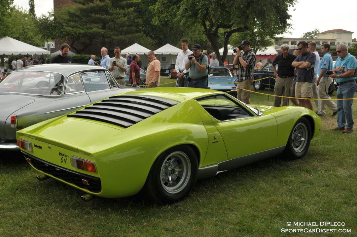 1967 Lamborghini Miura P400 SV Coupe.