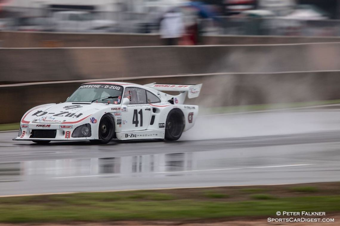 Whittington, 80 Porsche 935 K3 braving a very wet Saturday morning track